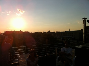 Sun sets in Bushwick Brooklyn